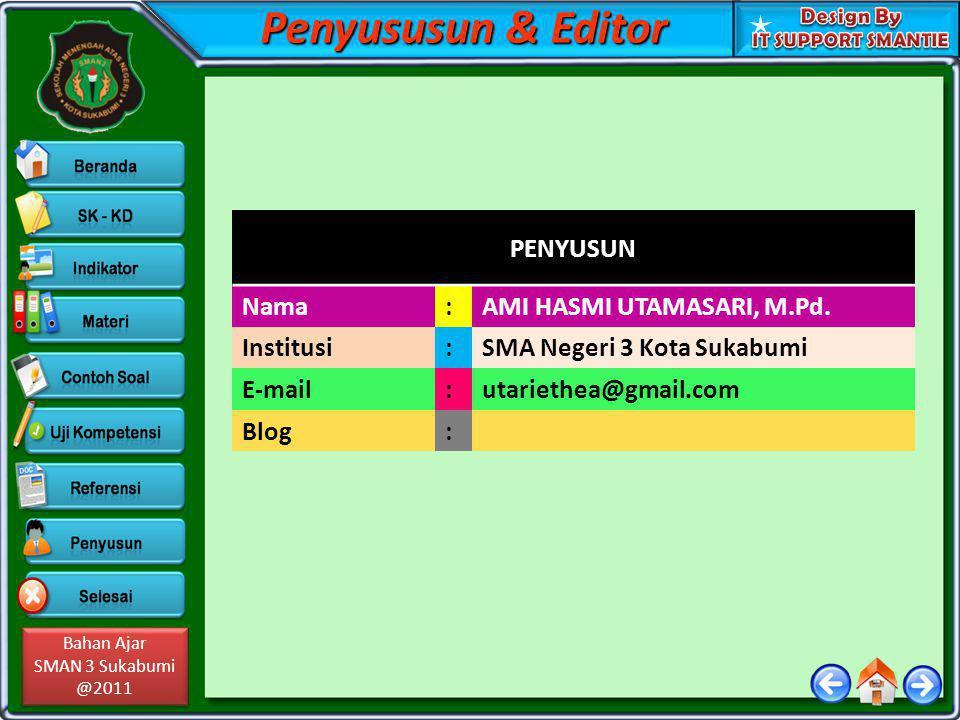 Penyususun & Editor PENYUSUN Nama : AMI HASMI UTAMASARI, M.Pd.