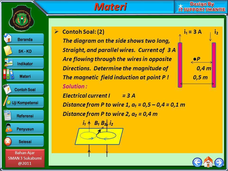 Materi Contoh Soal: (2) i₁ = 3 A i₂