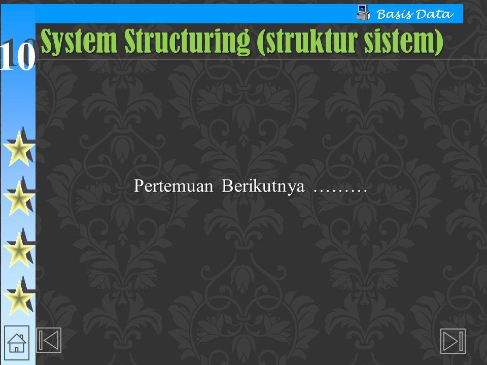 System Structuring (struktur sistem)
