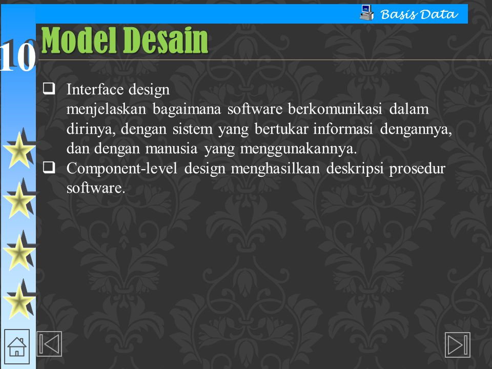 Model Desain Interface design
