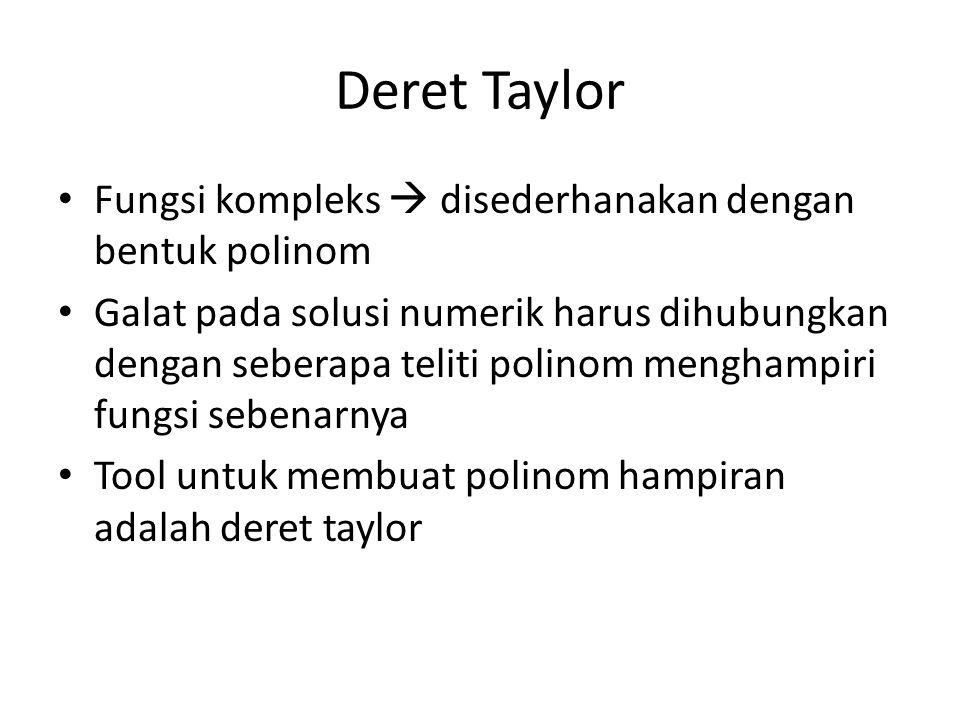 Deret Taylor Fungsi kompleks  disederhanakan dengan bentuk polinom