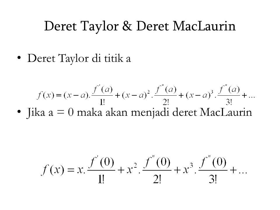 Deret Taylor & Deret MacLaurin