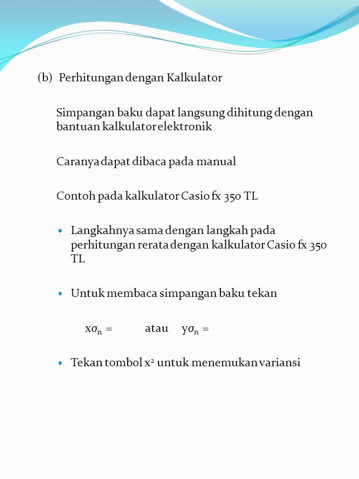 (b) Perhitungan dengan Kalkulator