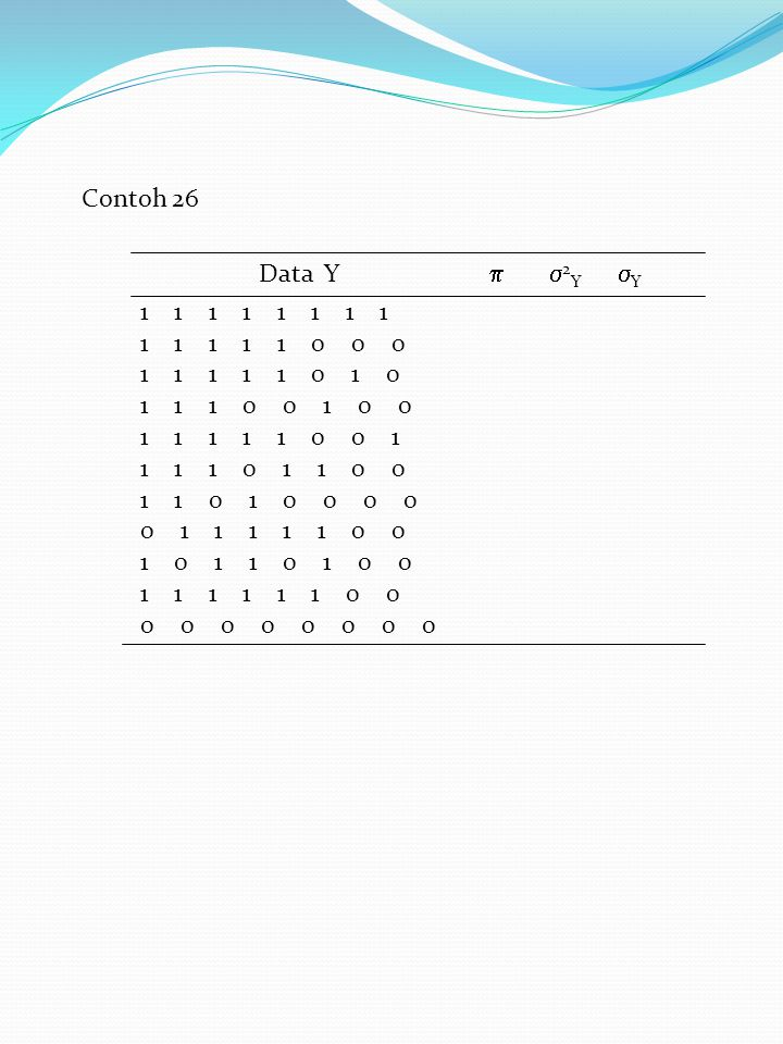 Contoh 26 Data Y  2Y Y.