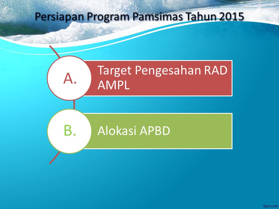 Persiapan Program Pamsimas Tahun 2015