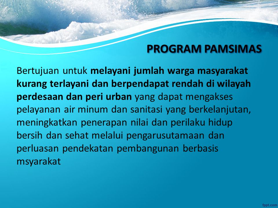 PROGRAM PAMSIMAS