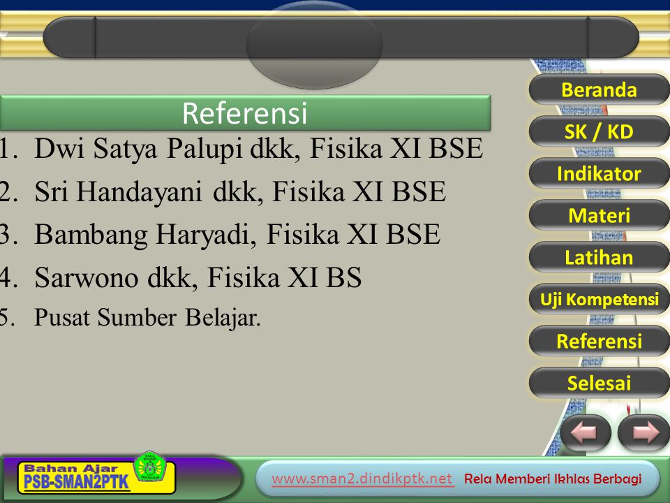 Referensi Dwi Satya Palupi dkk, Fisika XI BSE