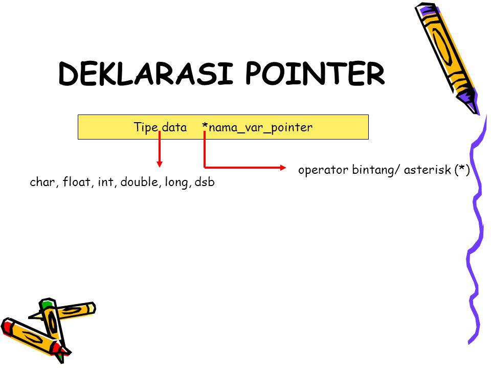 Tipe data *nama_var_pointer