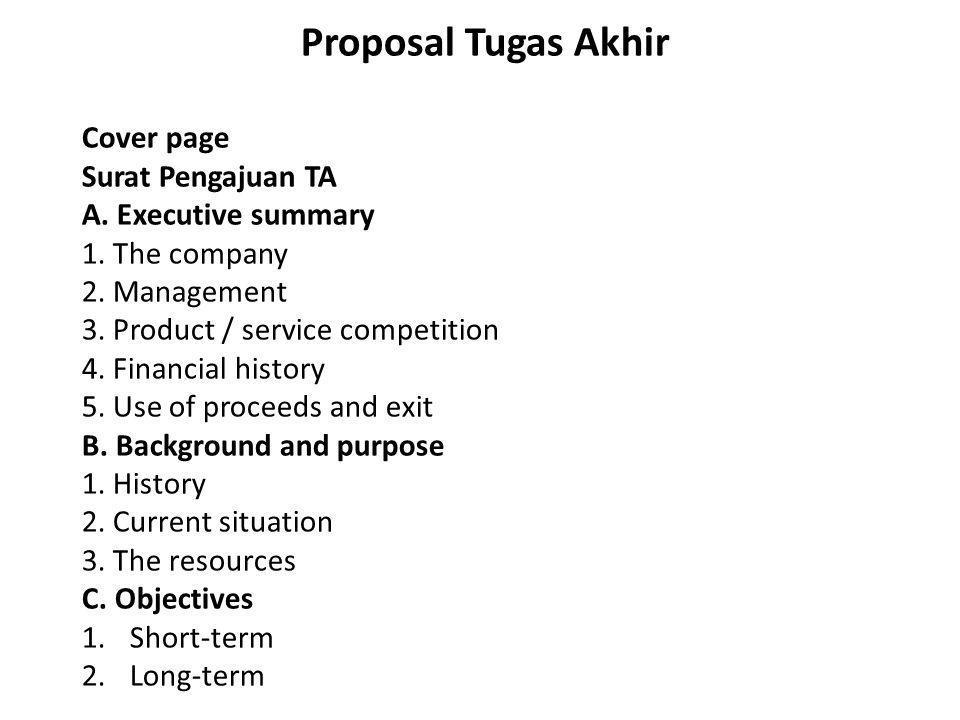 Proposal Tugas Akhir Cover page Surat Pengajuan TA