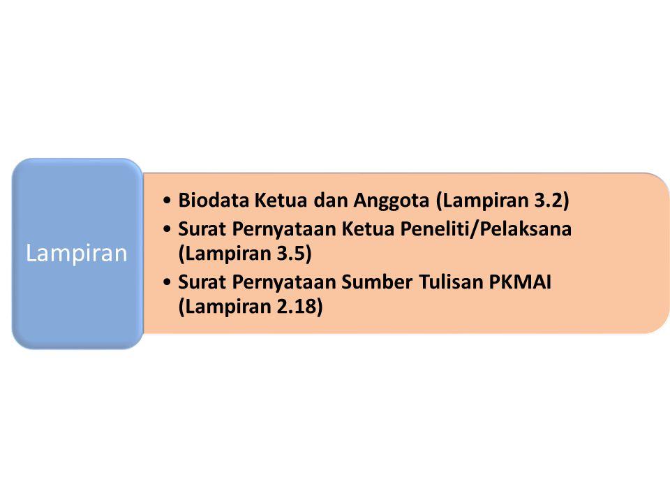 Lampiran Biodata Ketua dan Anggota (Lampiran 3.2)