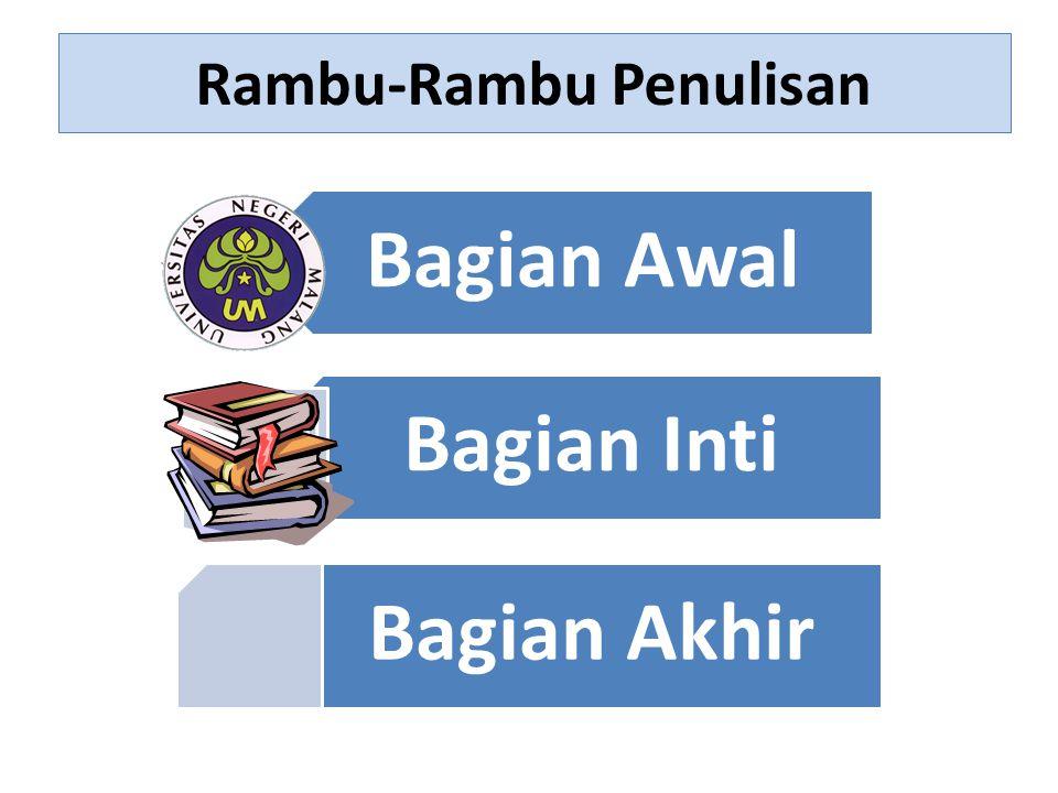 Rambu-Rambu Penulisan