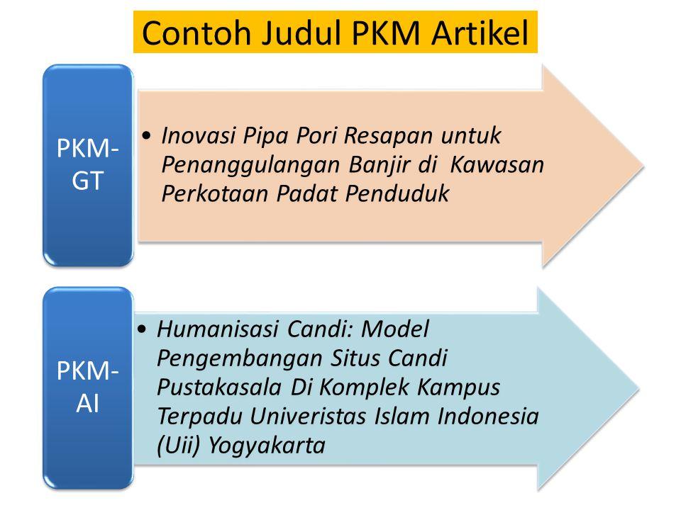 Contoh Judul PKM Artikel