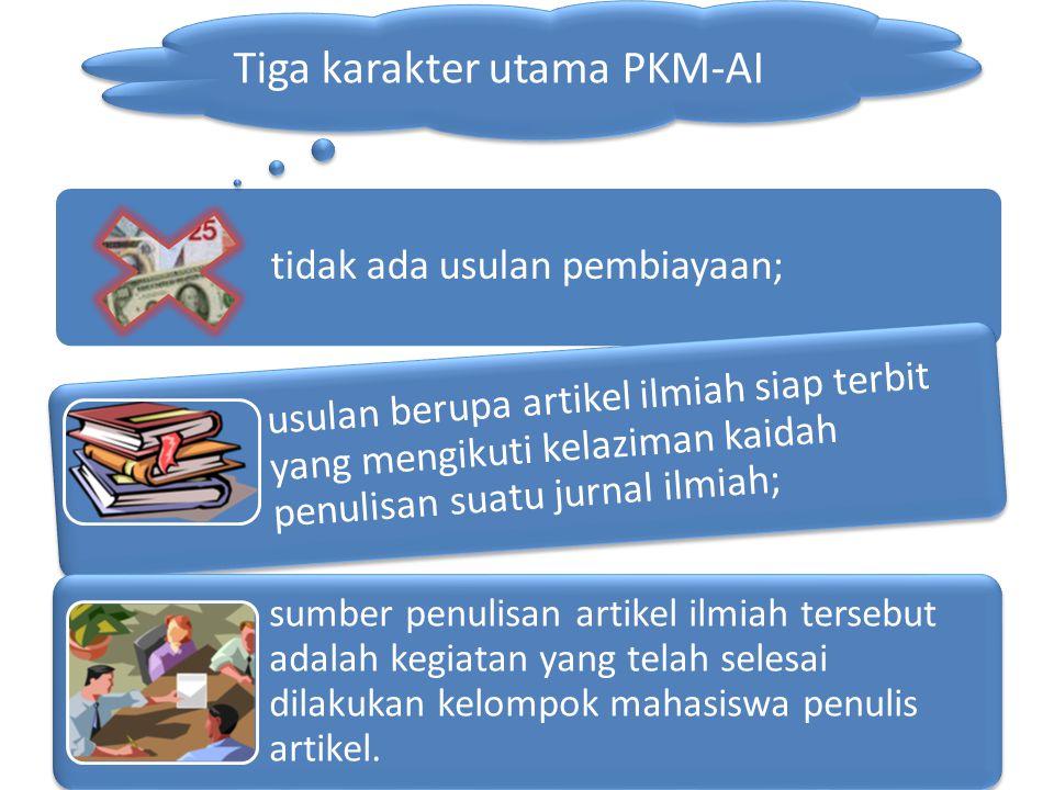Tiga karakter utama PKM-AI