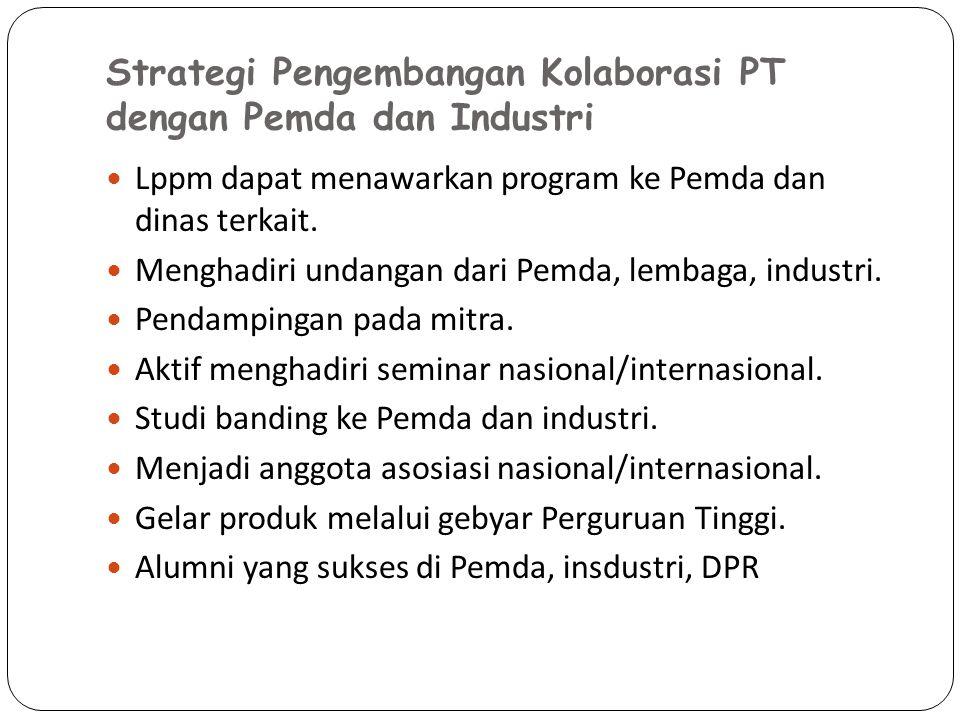 Strategi Pengembangan Kolaborasi PT dengan Pemda dan Industri