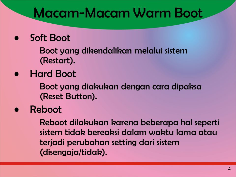Macam-Macam Warm Boot Soft Boot Hard Boot Reboot