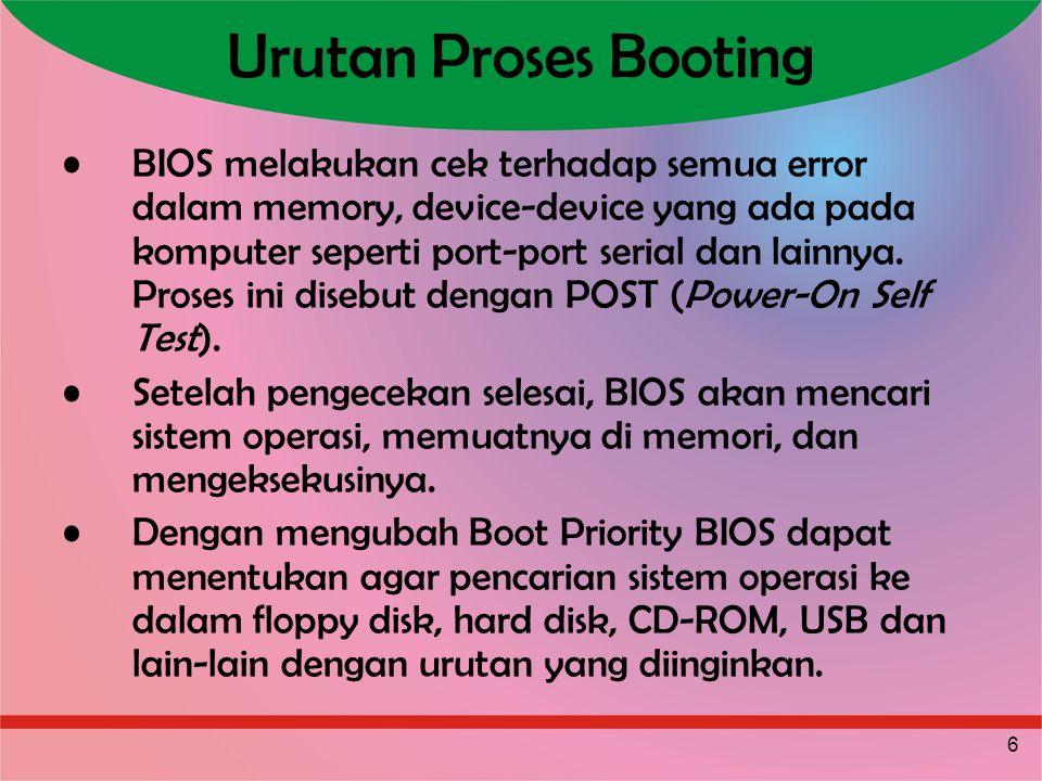 Urutan Proses Booting