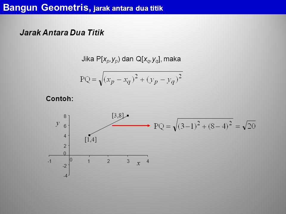 Bangun Geometris, jarak antara dua titik