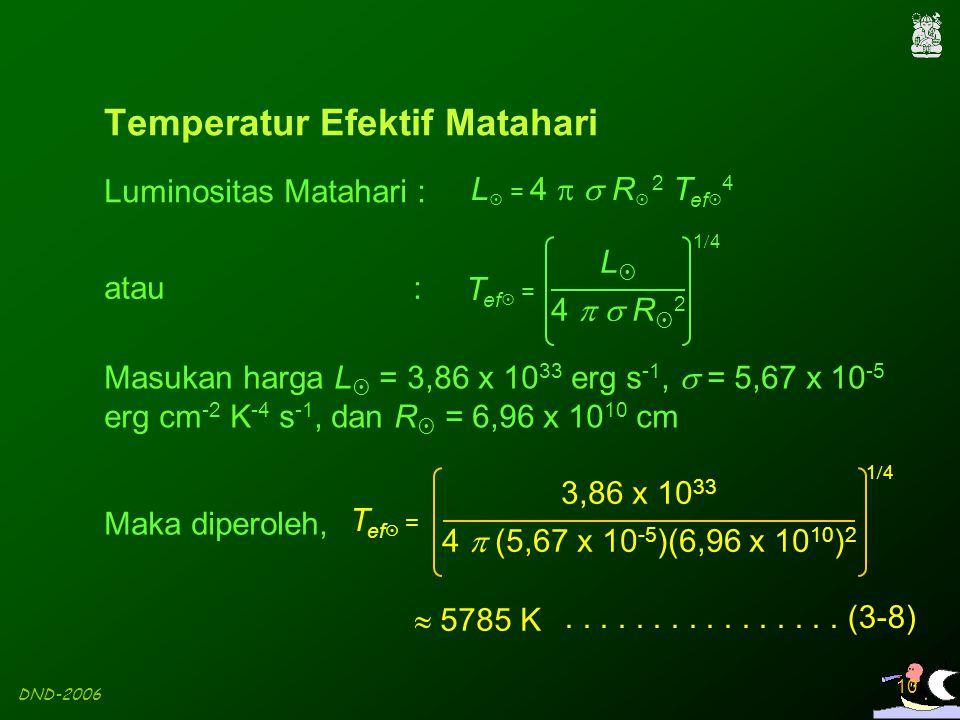 Temperatur Efektif Matahari