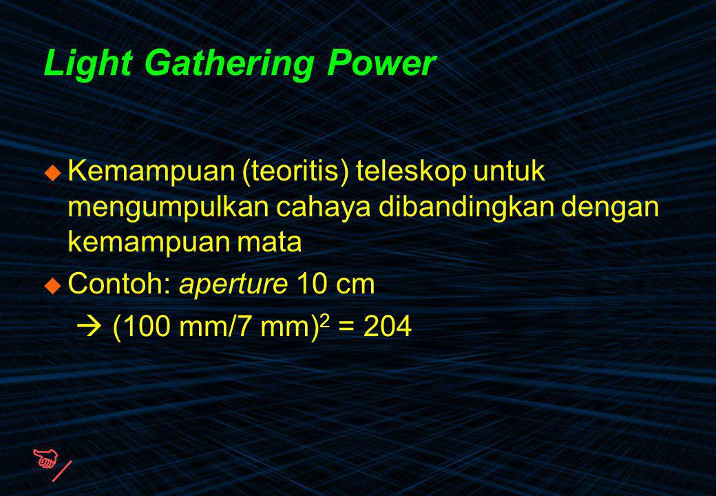  Light Gathering Power