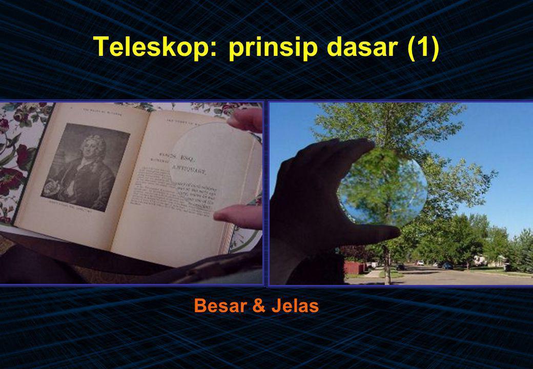 Teleskop: prinsip dasar (1)