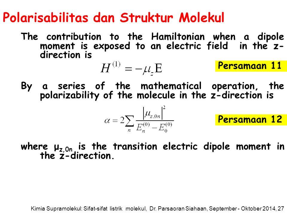 Polarisabilitas dan Struktur Molekul