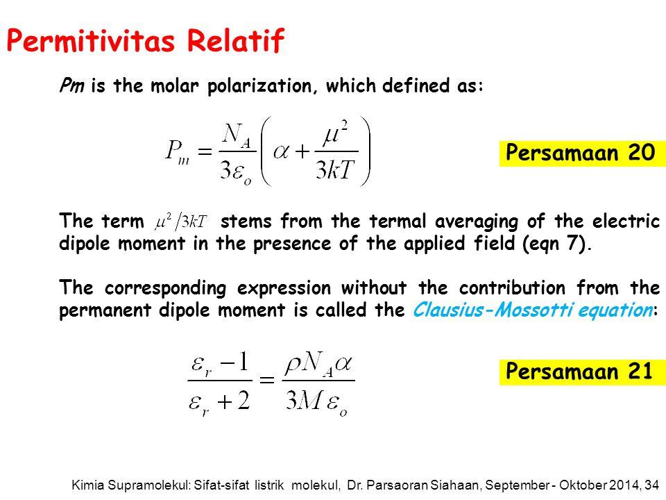 Permitivitas Relatif Persamaan 20 Persamaan 21