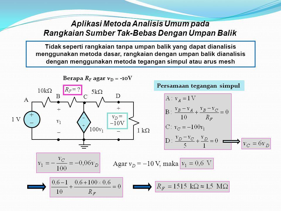 Aplikasi Metoda Analisis Umum pada