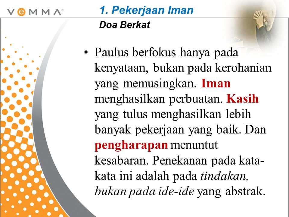1. Pekerjaan Iman Doa Berkat