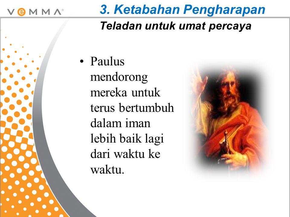 3. Ketabahan Pengharapan Teladan untuk umat percaya