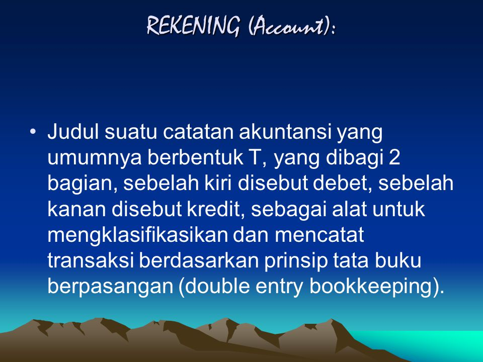 REKENING (Account):