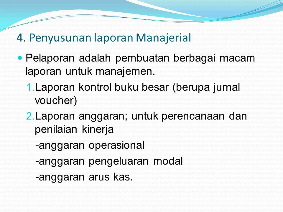 4. Penyusunan laporan Manajerial
