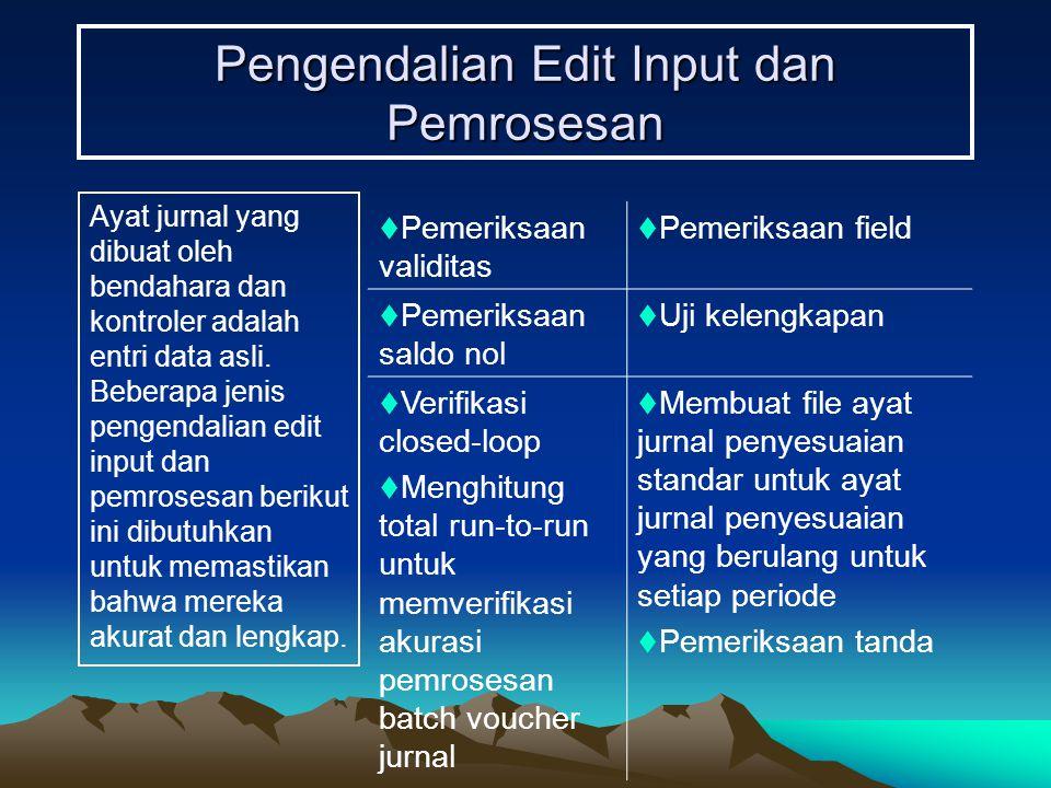 Pengendalian Edit Input dan Pemrosesan
