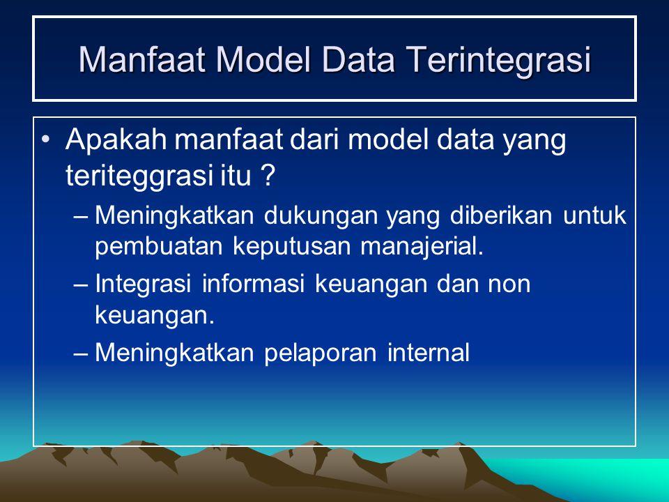 Manfaat Model Data Terintegrasi