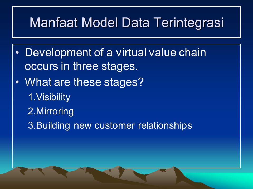 Manfaat Model Data Terintegrasi
