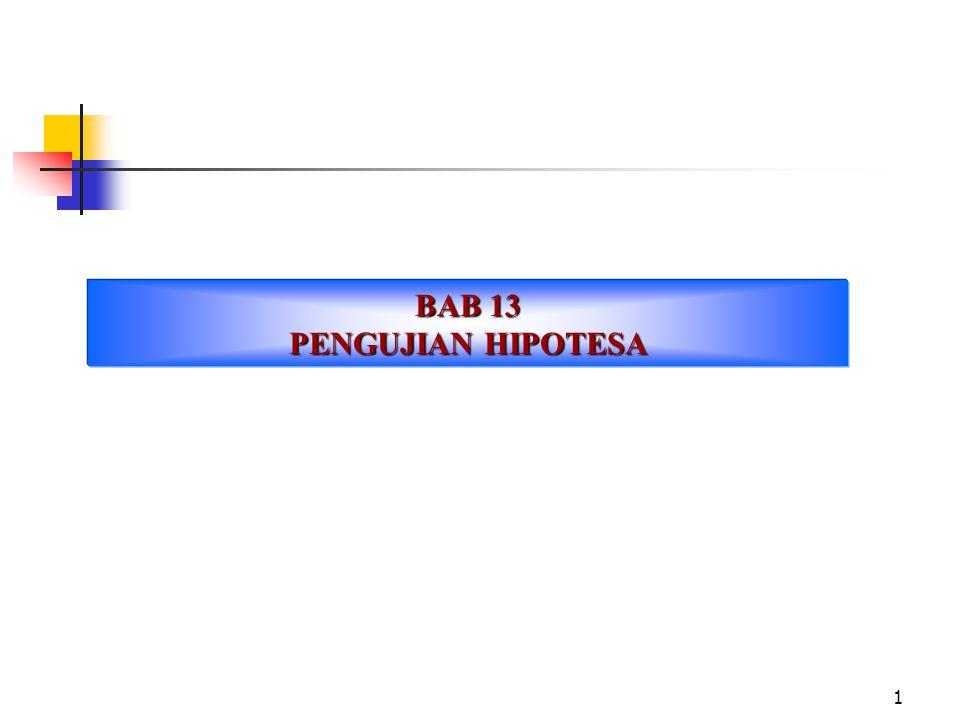 BAB 13 PENGUJIAN HIPOTESA