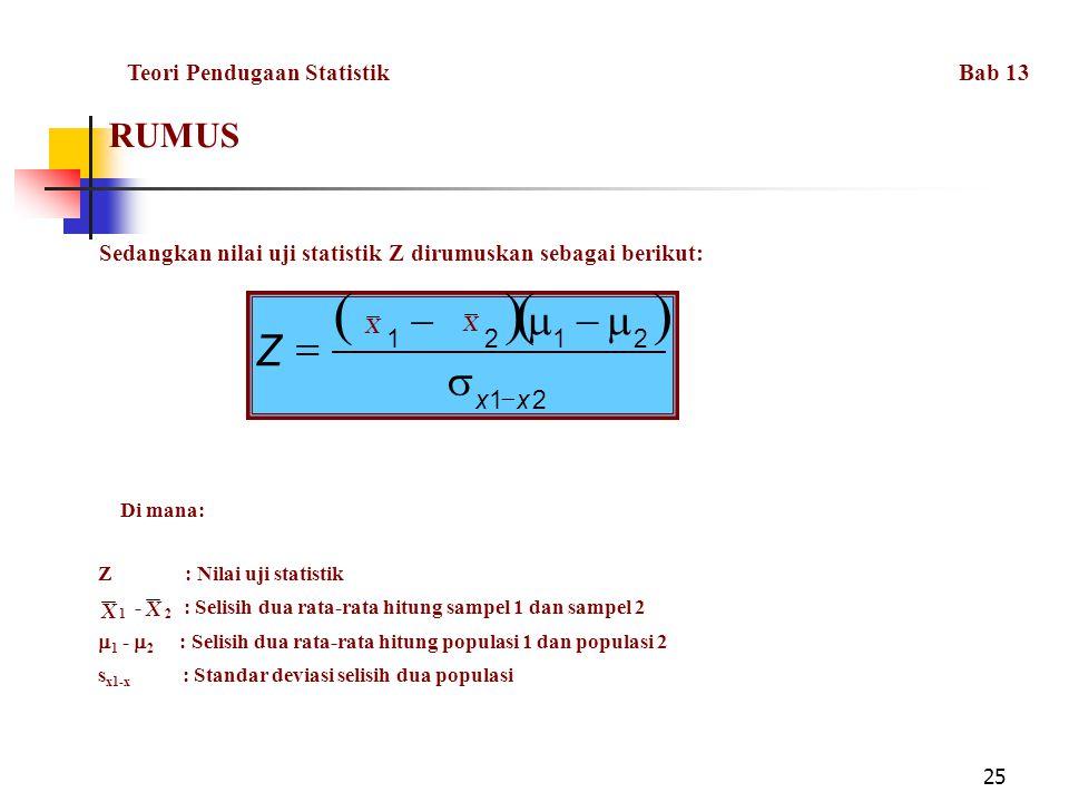 Teori Pendugaan Statistik Bab 13