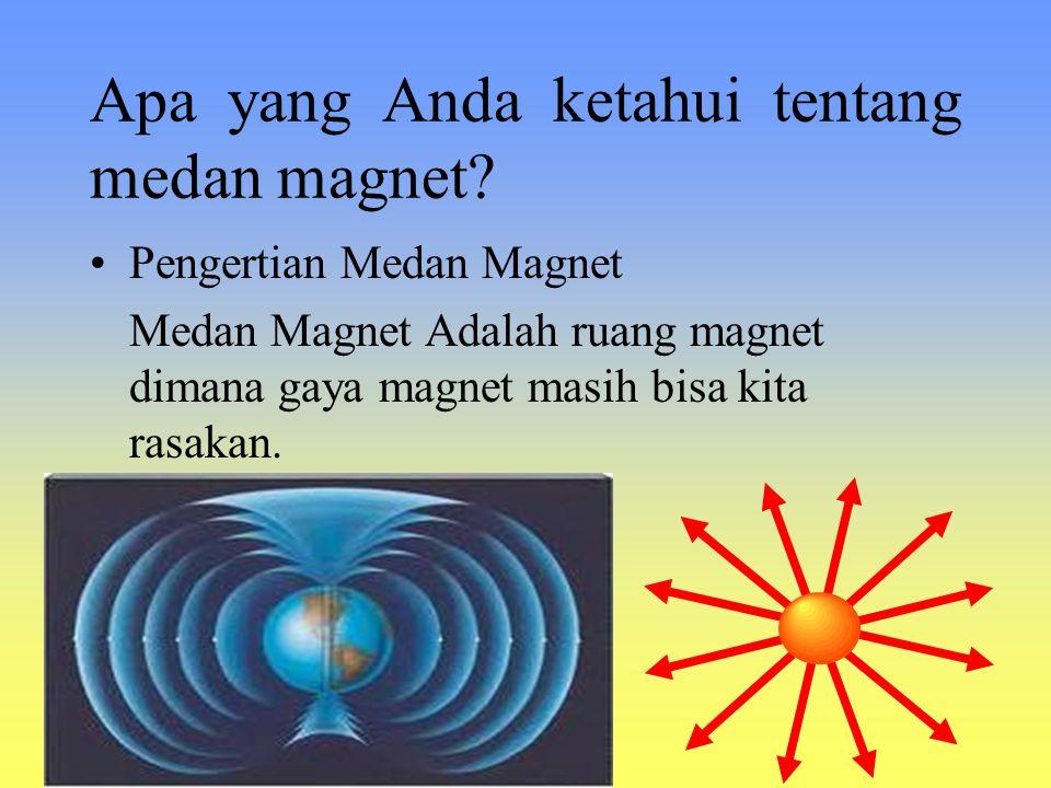 Apa yang Anda ketahui tentang medan magnet