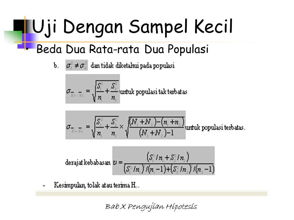 Uji Dengan Sampel Kecil