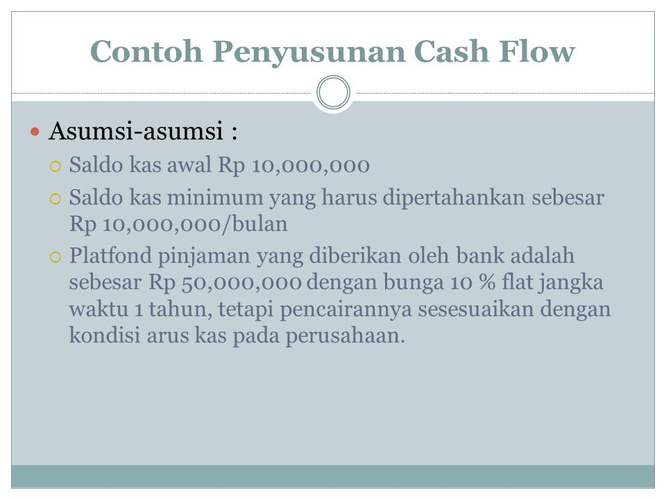 Contoh Penyusunan Cash Flow