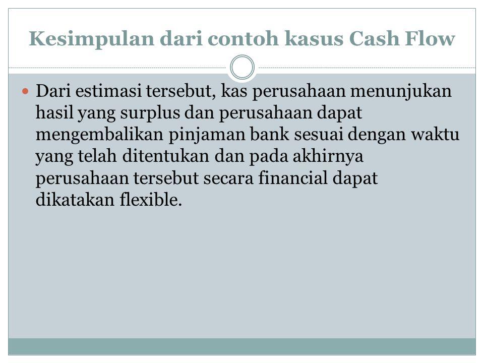 Kesimpulan dari contoh kasus Cash Flow