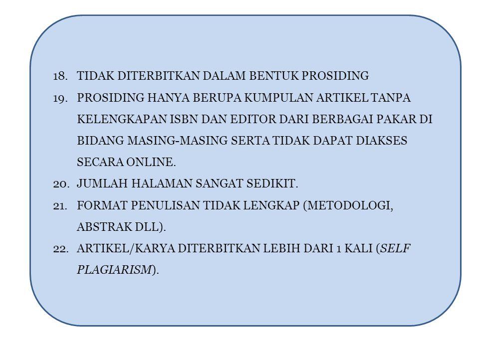 18. TIDAK DITERBITKAN DALAM BENTUK PROSIDING