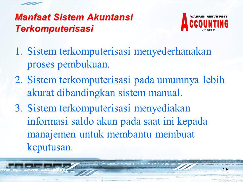 Manfaat Sistem Akuntansi Terkomputerisasi