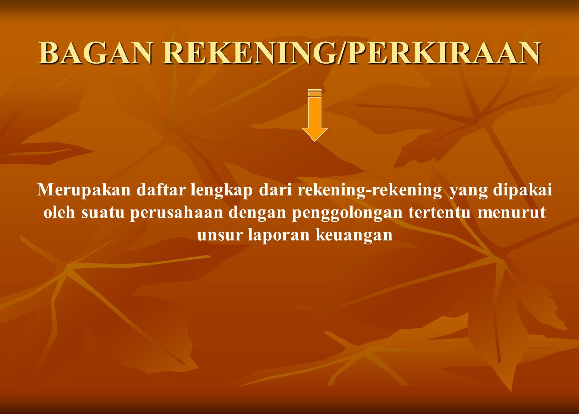 BAGAN REKENING/PERKIRAAN