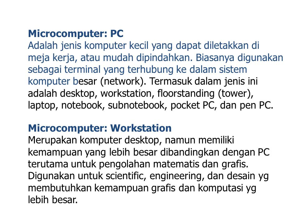 Microcomputer: PC