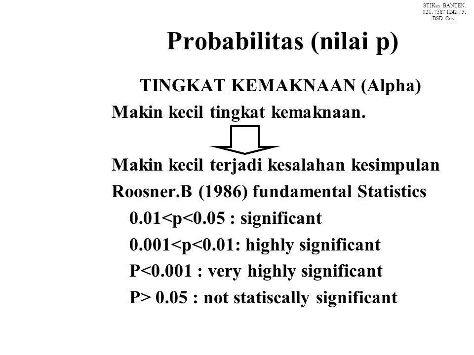 Probabilitas (nilai p)