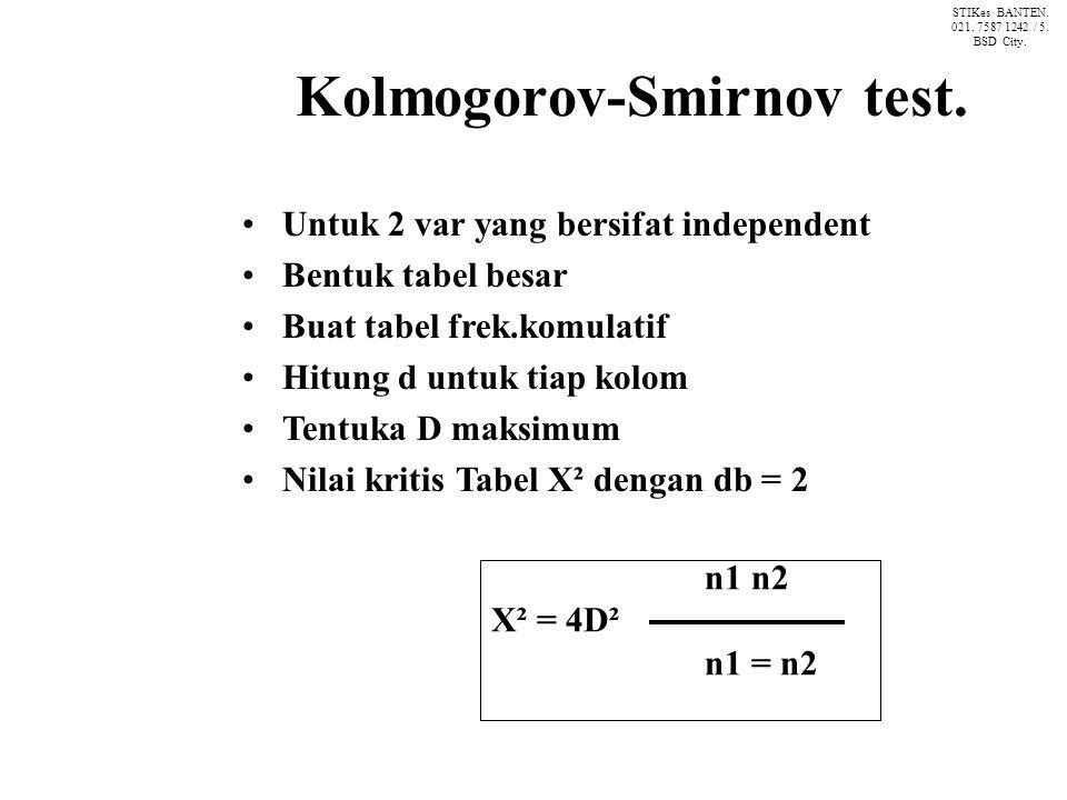 Kolmogorov-Smirnov test.
