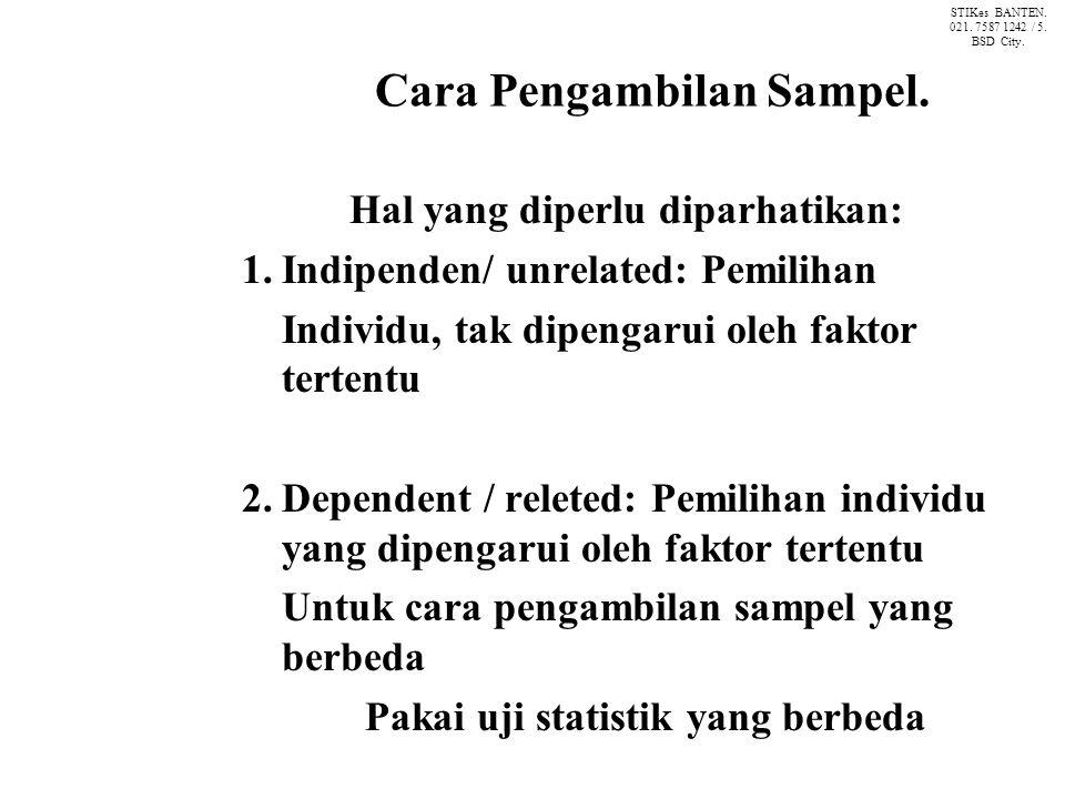 Cara Pengambilan Sampel.