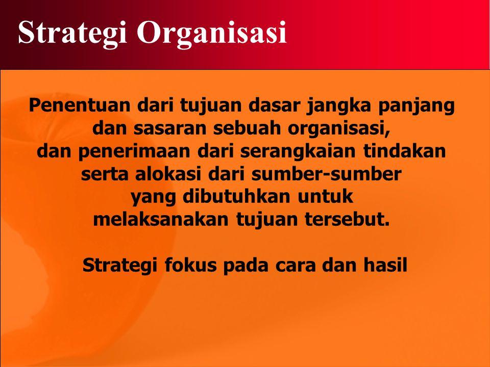 Strategi Organisasi Penentuan dari tujuan dasar jangka panjang