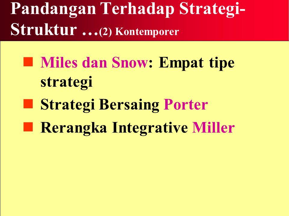 Pandangan Terhadap Strategi-Struktur …(2) Kontemporer