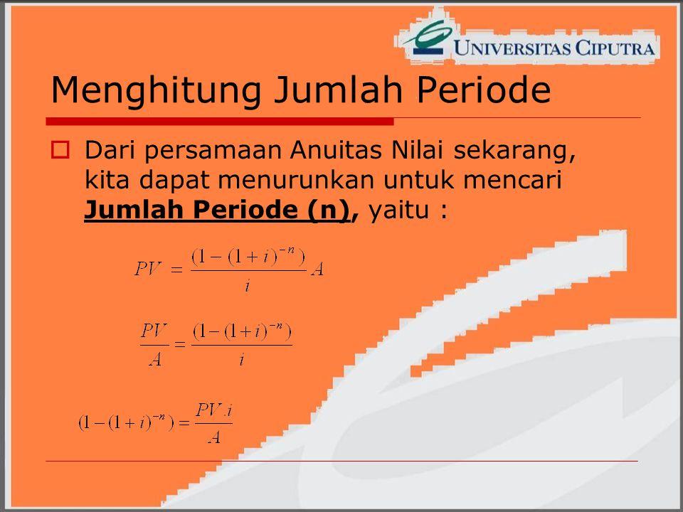 Menghitung Jumlah Periode